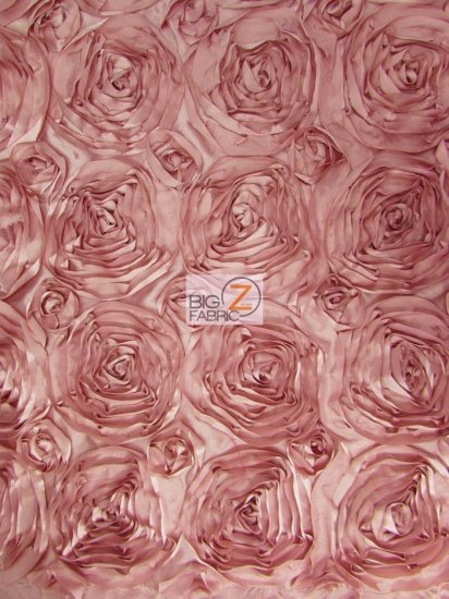 Rosette Style Taffeta Fabric / Dusty Rose / Sold By The Yard Closeout!!!