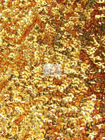Scale Seaweed Sequins Mesh Fabric / Gold / Sold By The Yard Closeout!!!