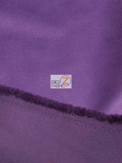 Microfiber Suede Upholstery Fabric / Eggplant / Passion Suede Microsuede/DuroLastTM