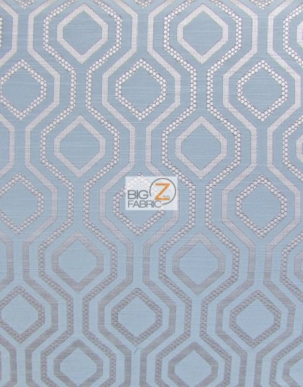 Santana Geometric Diamond Upholstery Fabric / Malibu / Sold By The Yard