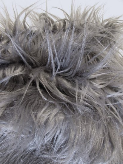 Faux Fake Fur Solid Gorilla Animal Long Pile Fabric / Pewter / Sold By The Yard/EcoshagTM