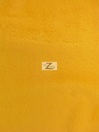 Minky Solid Baby Soft Fabric / Canary Yellow / Sold By The Yard/Hug-ZTM