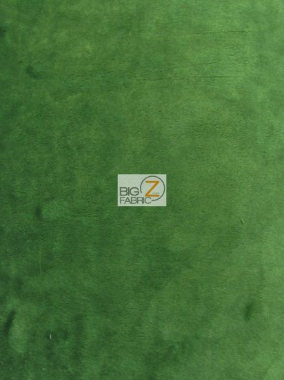 Minky Solid Baby Soft Fabric / Hunter Green / Sold By The Yard/Hug-ZTM