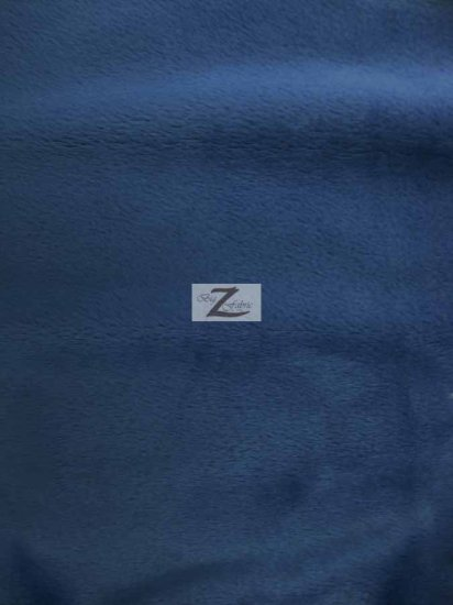 Minky Solid Baby Soft Fabric / Navy Blue / Sold By The Yard/Hug-ZTM