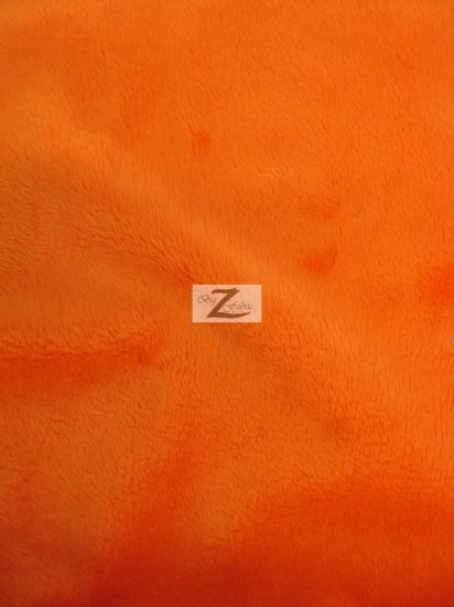 Minky Solid Baby Soft Fabric / Orange / Sold By The Yard/Hug-ZTM