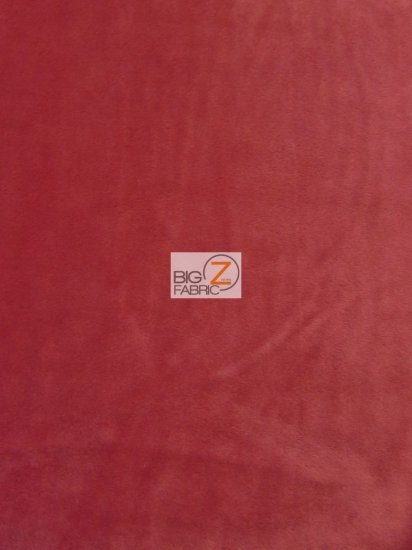 Minky Solid Baby Soft Fabric / Red / Sold By The Yard/Hug-ZTM