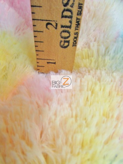 Minky Solid Shaggy Baby Soft Fabric / Rainbow 3 / Sold By The Yard