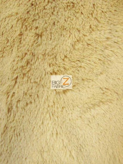 Minky Solid Shaggy Baby Soft Fabric / Light Camel / Sold By The Yard