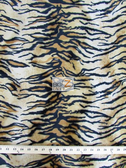 Velboa Faux Fake Fur Tiger Animal Short Pile Fabric / Siberian Tiger / Sold By The Yard