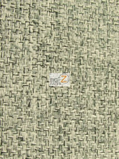 Vintage Lattice Textured Upholstery Fabric / Granite / Sold By The Yard