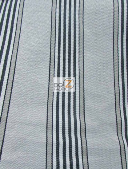 Viscose Pennington Stripe Upholstery Fabric / Charcoal / Sold By The Yard