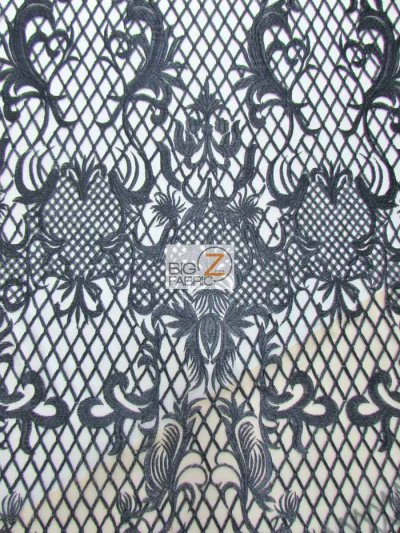 Wicked Checkered Dress Lace Fabric / Black / Sold By The Yard Closeout!!!