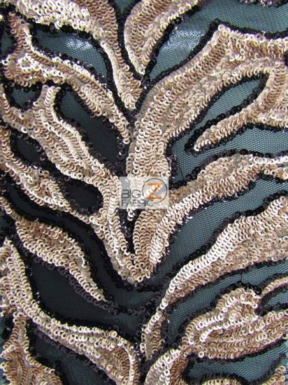 Wild Fire Sequins Mesh Fabric / Peach / Sold By The Yard