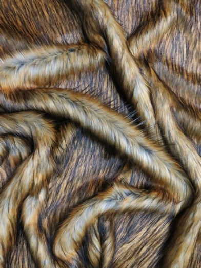Faux Fake Fur Animal Coat Costume Fabric / Wolf / Sold By The Yard/EcoshagTM