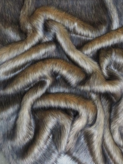 Faux Fake Fur Animal Coat Costume Fabric / Rocky Wolf / Sold By The Yard