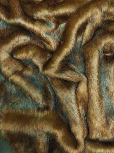 Faux Fake Fur Animal Coat Costume Fabric / Arabian Wolf / Sold By The Yard