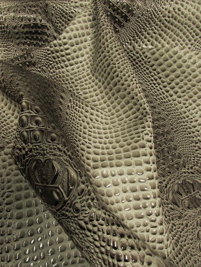 Florida Gator 3D Embossed Vinyl Fabric / Stone Gray / Sold By The Yard/DuroLastTM