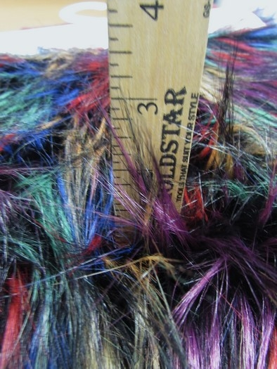 Fireworks Shaggy Faux Fur Long Pile Fabric / Multi #1 / Sold By The Yard/EcoshagTM