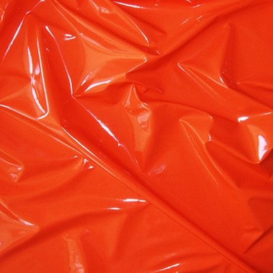 Glossy Stretch Fetish Patent Vinyl Spandex Fabric / Red / Sold By The Yard