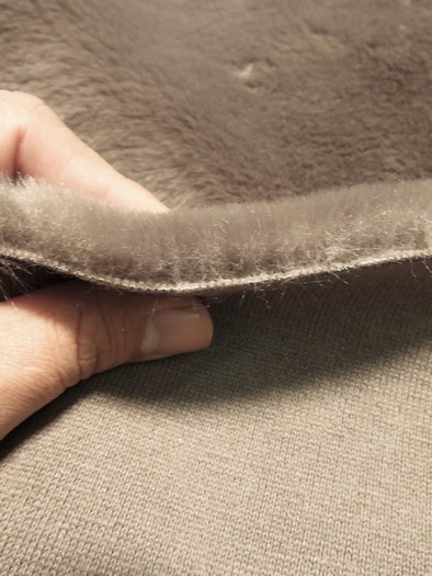 Half Shag Faux Fur Fabric (Beaver)(Knit Backing) / Brown / Sold By The Yard/EcoShagTM