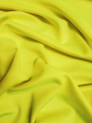 Neoprene Scuba Techno Athletic Double Knit All-Purpose Fabric / Neon Yellow / Sold By The Yard