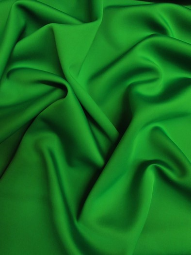 Neoprene Scuba Techno Athletic Double Knit All-Purpose Fabric / Kelly Green / Sold By The Yard