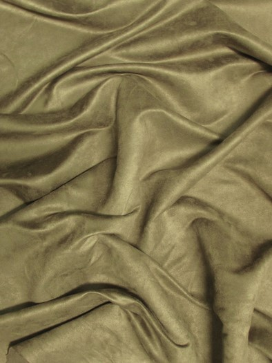 Microfiber Suede Upholstery Fabric / Stone / Passion Suede Microsuede