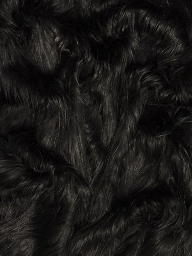 Faux Fake Fur Solid Gorilla Animal Long Pile Fabric / Black / Sold By The Yard/EcoshagTM