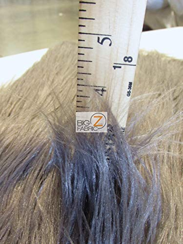 Faux Fake Fur Solid Gorilla Animal Long Pile Fabric / Brown / Sold By The Yard/EcoshagTM