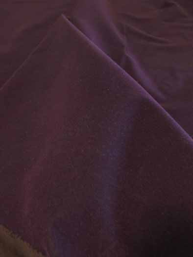 Upholstery Grade Solid Flocking Velvet Fabric / Burgundy / Sold By The Yard