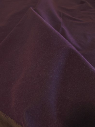 Upholstery Grade Solid Flocking Velvet Fabric / Red / 40 Yards Roll